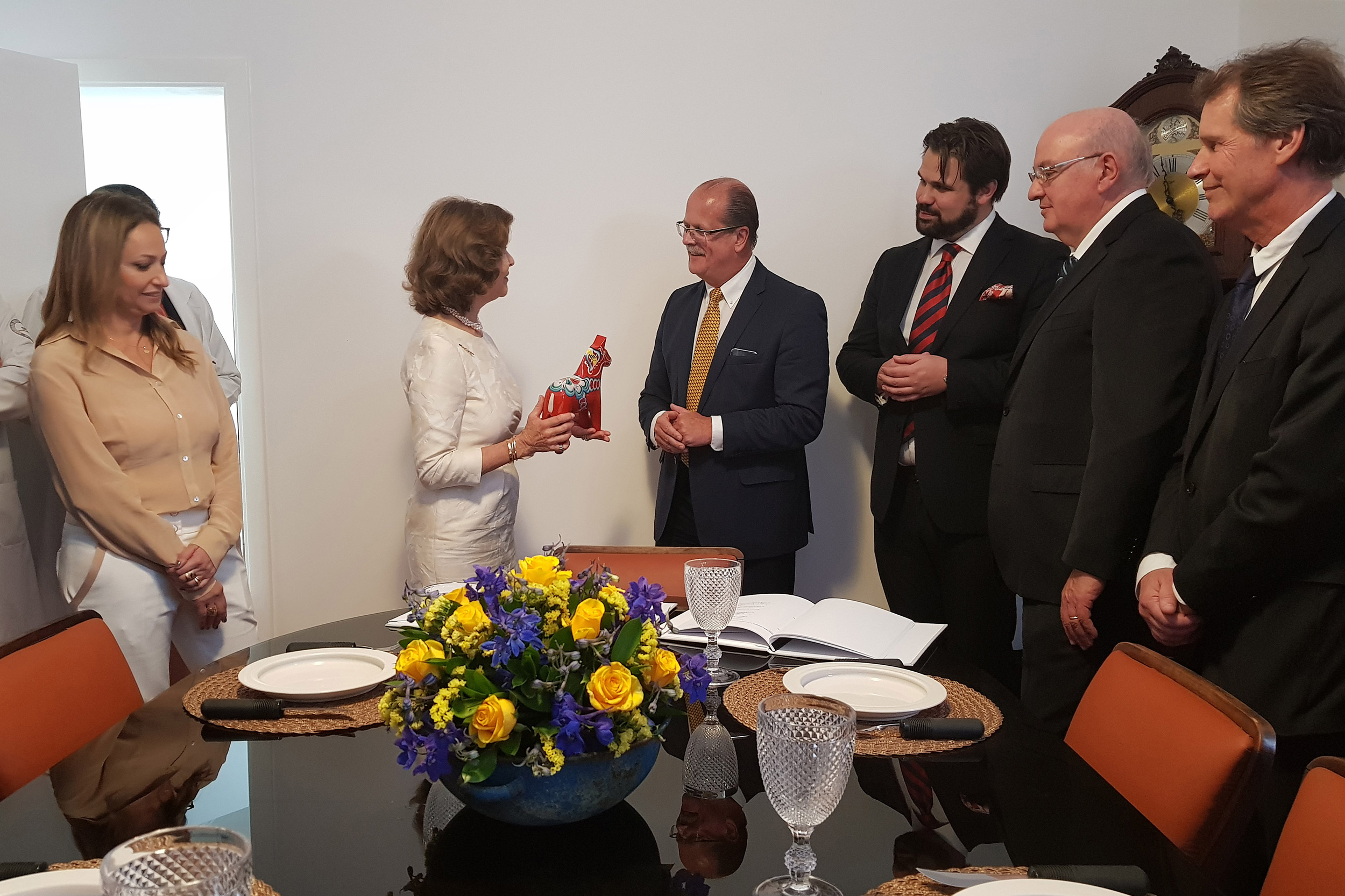 Queen Silvia at event