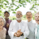 elderly people laughing